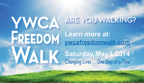 Are you walking? Learn more at www.freedomwalk.com. Saturday, May 3, 2014. Changing Lives...One Step at a Time