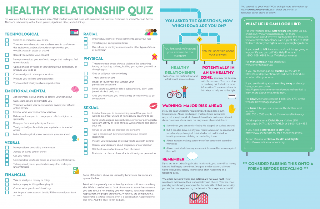 Healthy Relationship Quiz for Girls & Young Women - YWCA