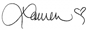image of Lauren's signature