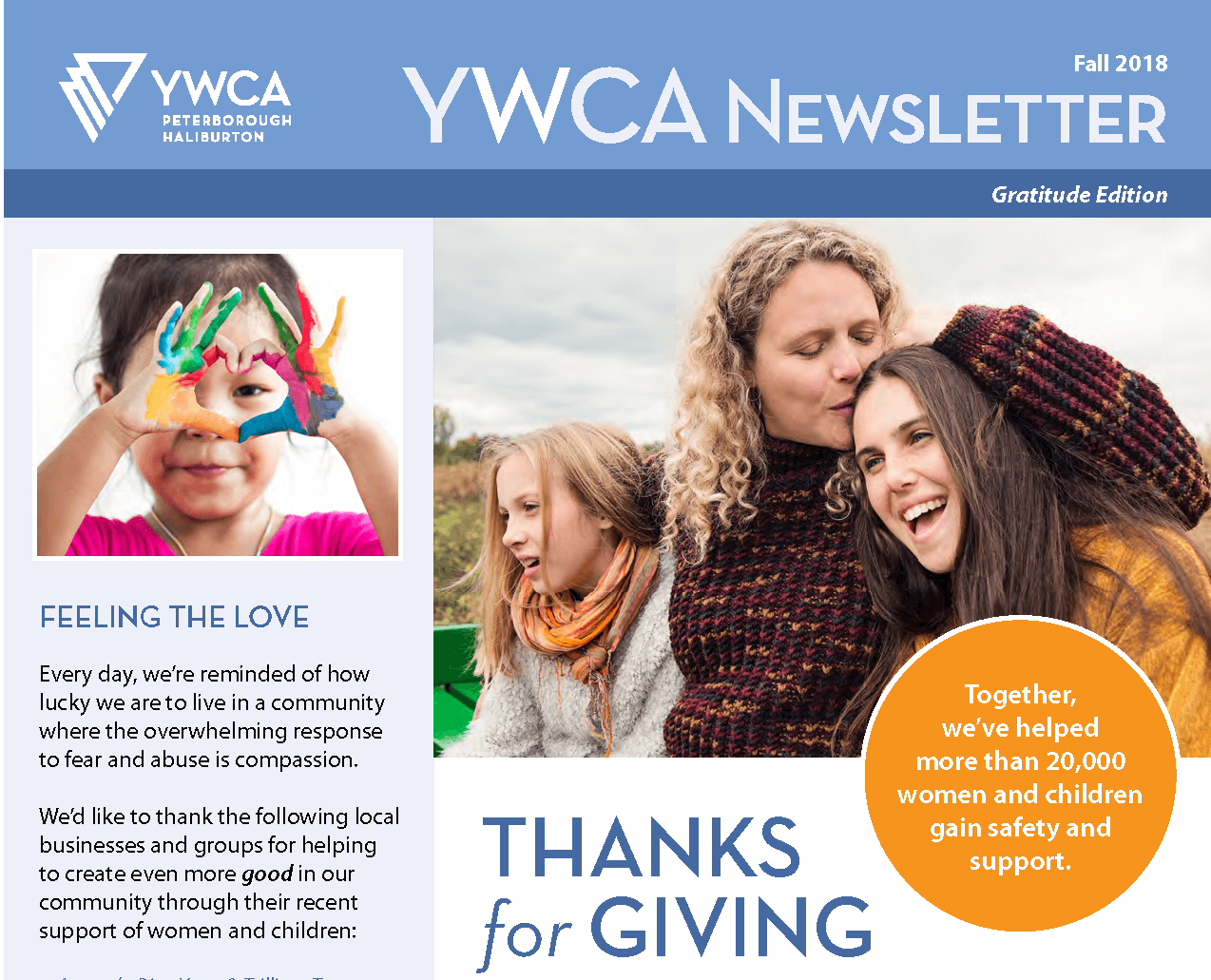 Image of Fall 2018 Newsletter cover